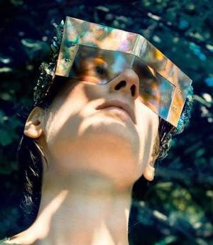 Eyewear collection . Hungarian designer, Mrs. Herskin-The Holographic Illusion