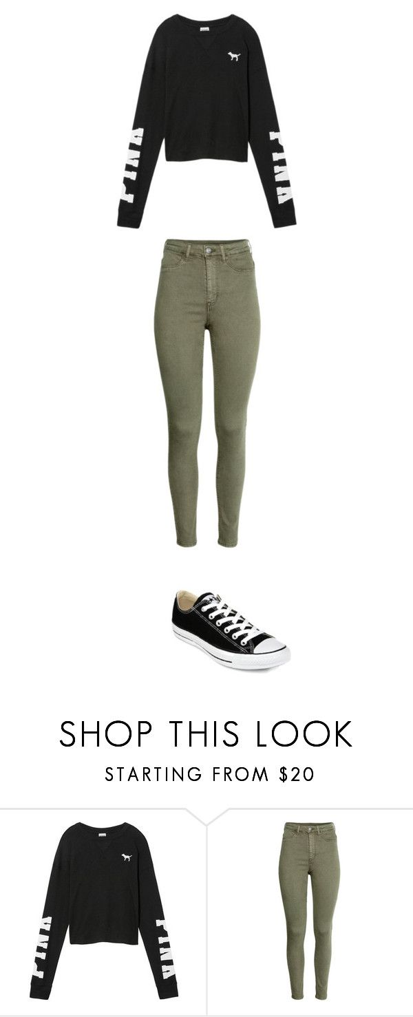"""november 13"" by ottoca on Polyvore featuring Victoria's Secret and Converse"