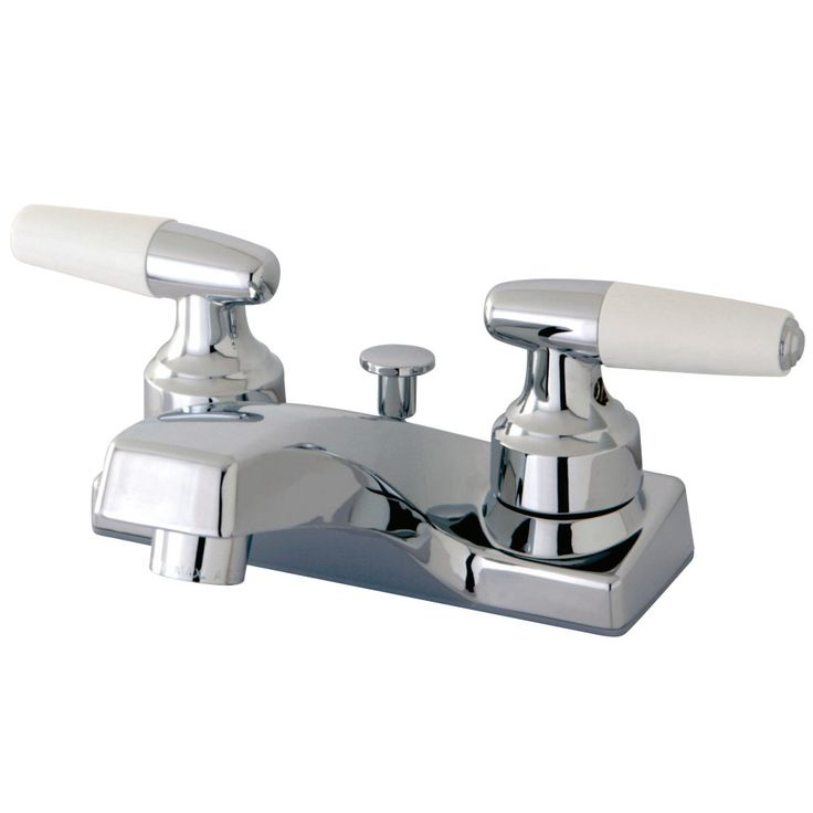 """Kingston Brass KB201 Americana 4"""" Centerset Lavatory Faucet With Plastic Pop-Up, Polished Chrome - Price: $65.95 & FREE Shipping over $99     #kingstonbrass"""
