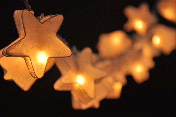20 stella bianca & campana di carta Lanterna luci di smilecotton