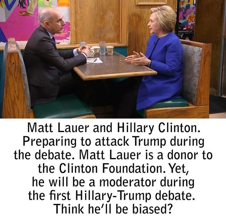 I wish Trump wasn't doing this. Matt Lauer is so biased He could never be fair even if he tried. M.W. 9/7/16