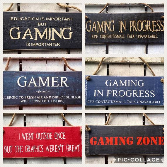 Gaming Sign. I Went Outside Once But The Graphics Werent Great. Rustic Sign ⭐️ A perfect gift for any gamer! ⭐️ This rustic sign is approx 27 …