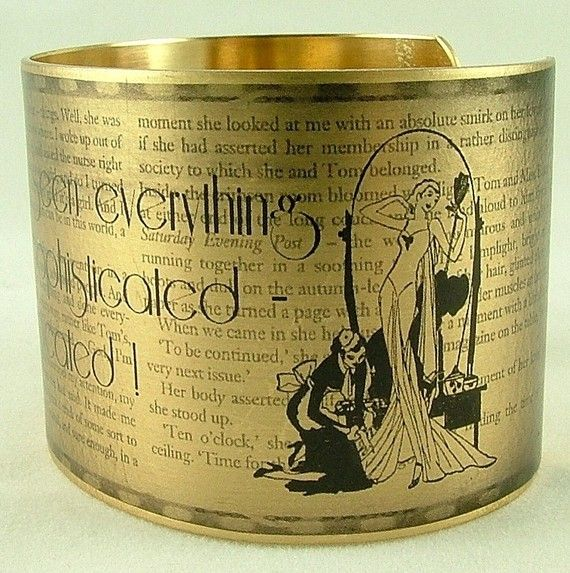 Literary Brass CuffThe Great Gatsby, Buchanan Sophisticated, Fscott, F Scott Fitzgerald, Literary Brass, Fitzgerald Daisies, Daisy Buchanan, Daisies Buchanan, Brass Cuffs