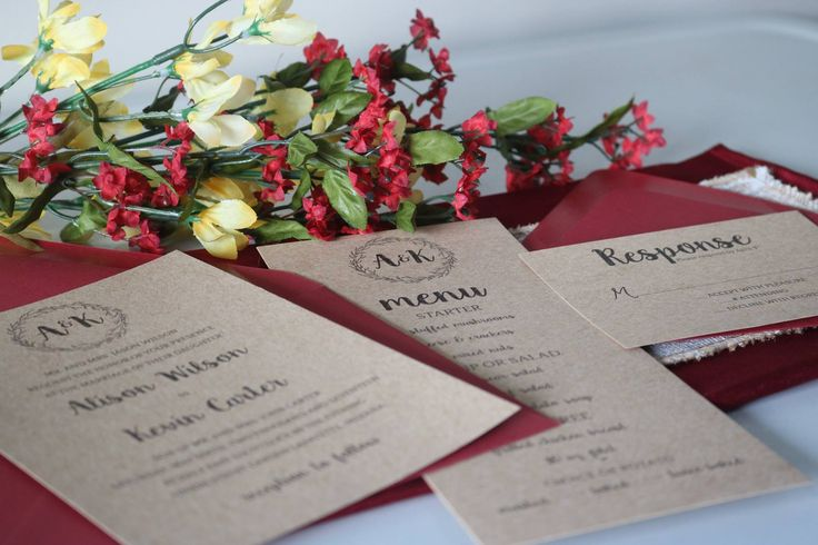 Wedding Suite | Formal Invitation |Kraft Wedding Invite |Printed Invitation|Rustic Wedding | Invitation Suite | Formal Wedding | Wedding Set