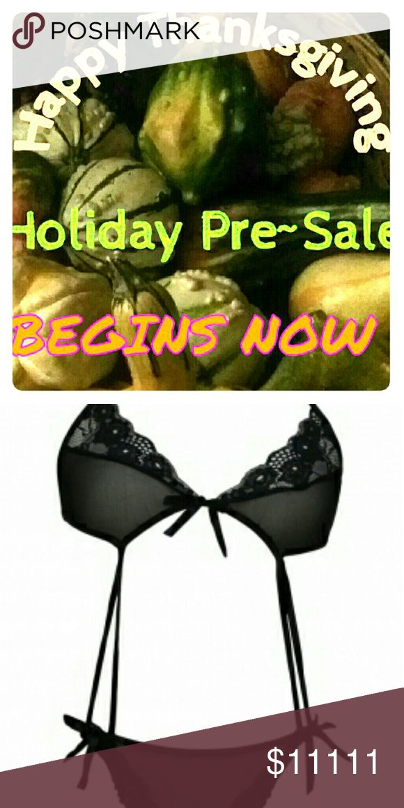 Holiday Pre-Sale Holiday Pre-Sale spotlights a different special lasting for an undisclosed period of time.   This special is the one pc bikini lingerie. Find the listing , bundle it, amd offer, $8. Intimates & Sleepwear