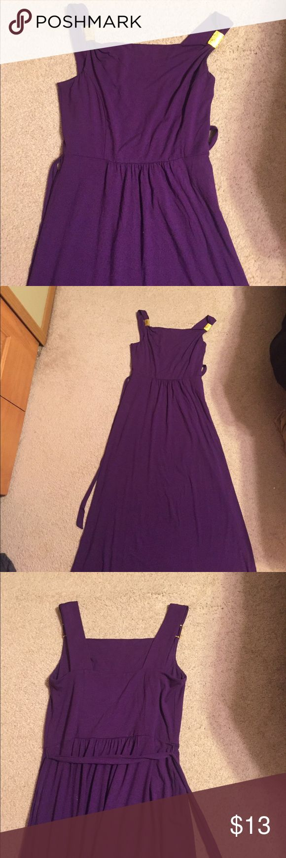 Ann Taylor small purple maxi dress with gold strap Worn only a few times Ann Taylor Factory Dresses Maxi