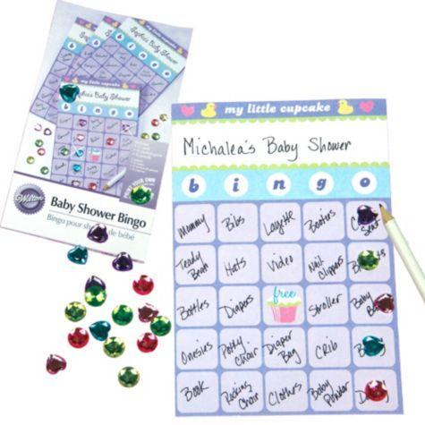 my little cupcake baby shower bingo game party city craft ideas
