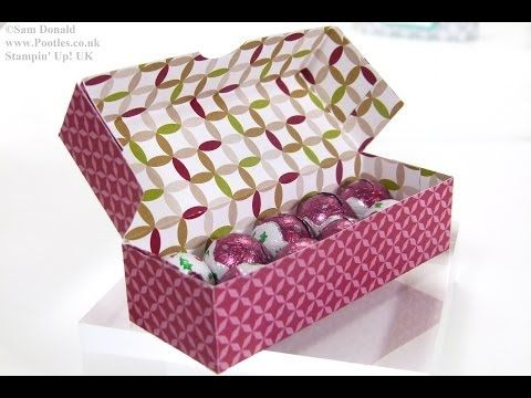 ▶ Stampin' Up! UK Advent Countdown 9 Sweetie Treat Box - YouTube