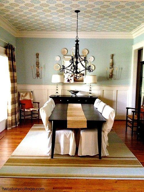 Rooms with wall paper dining room decorating ideas for Dining room decorating ideas wallpaper