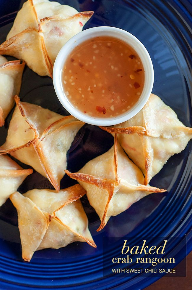 Baked Crab Rangoon with Sweet Chili Sauce | the Hungry Hedgehog