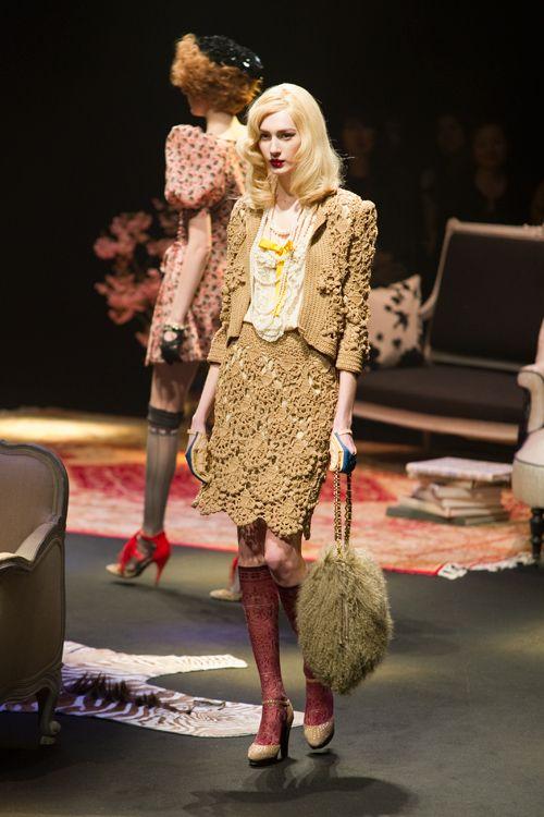 KEITA MARUYAMA, Tokyo A/W 2010 - Crochet Jacket Skirt