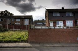 The empty plot where 16 Wardle Brook Avenue in Hattersley, once stood. Two of the murders took place inside the house, where Brady and Hindley lived with her grandmother during 1964 and 1965. Manchester City Council decided in 1987 to demolish the house.