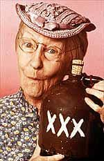 Granny Clampett with Moonshine