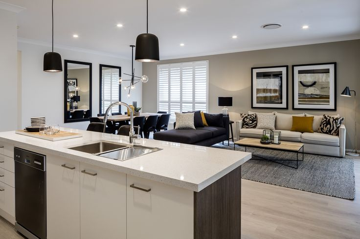 Domaine Homes. Nevada 28. Family, dining and kitchen