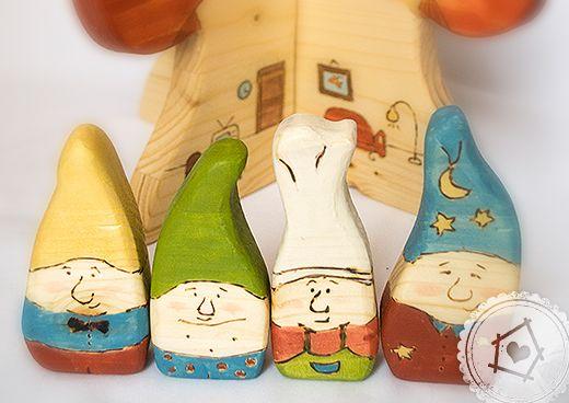 wooden dwarfs