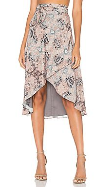 House of Harlow x REVOLVE Maya Wrap Skirt Mosaic in Kaleidoscope