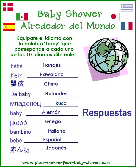 Baby Shower Games In Spanish: Best 9 Baby Shower Images On Pinterest