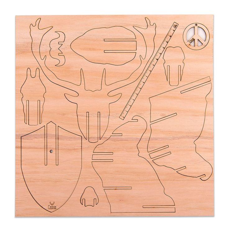 cabeza gacela 3d encastrable madera paraiso deco living hab