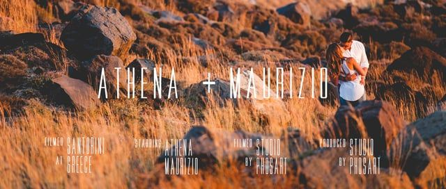 Wedding in Santorini | Athena & Maurizio | Wedding Short Film by Phosart