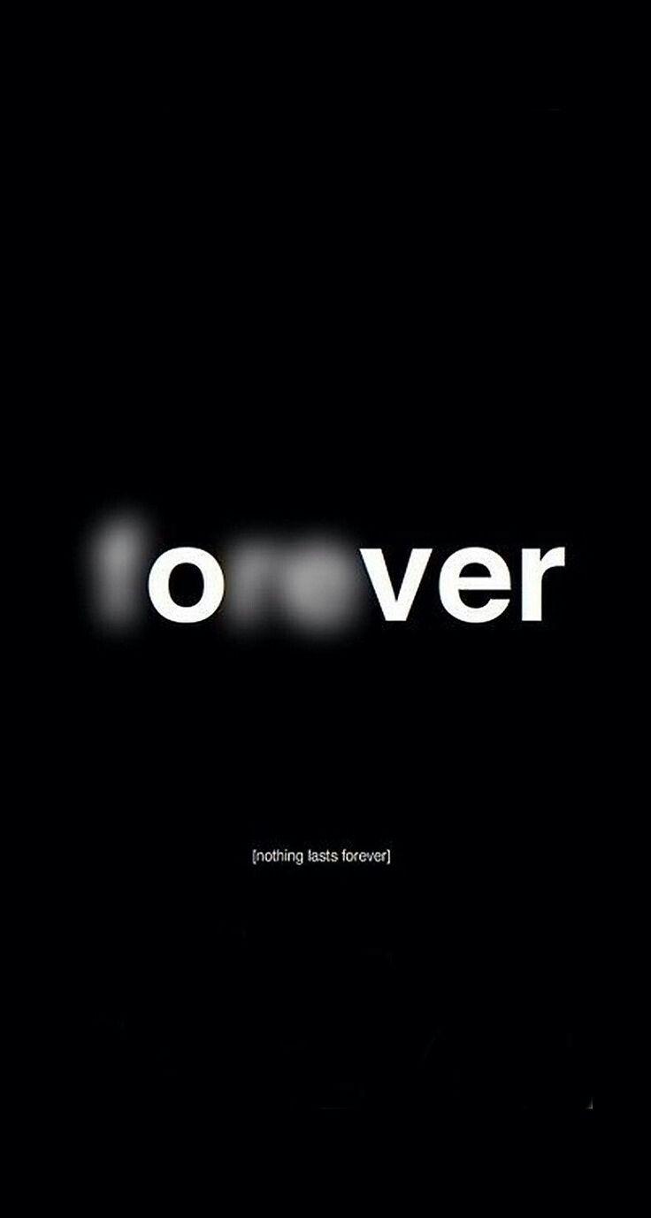 Sobre o para sempre: ele sempre para.