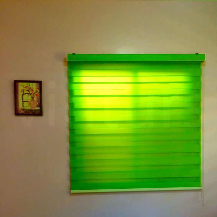 Perfect DUO COMBI ROLLER BLINDS CODE Basic Green MATERIAL Fabric polyester Find me in Sulit http olx ph Send your window measurements to