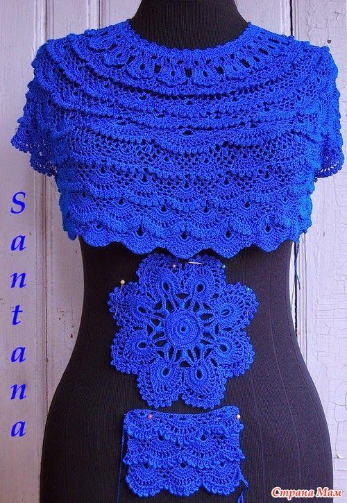 89 best crochet irlandés modelos y graficos images on Pinterest ...