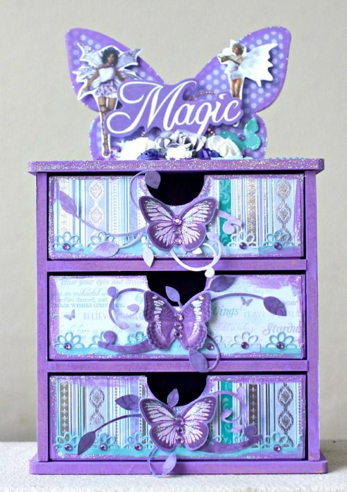 """Butterfly Drawers using """"Fairy Dust"""" by Alicia McNamara"""
