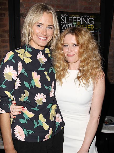 Orange Is the New Black co-stars Taylor Schilling and Natasha Lyonne are all smiles at a special N.Y.C. screening on Sunday for Lyonne's new film, Sleeping with Other People.