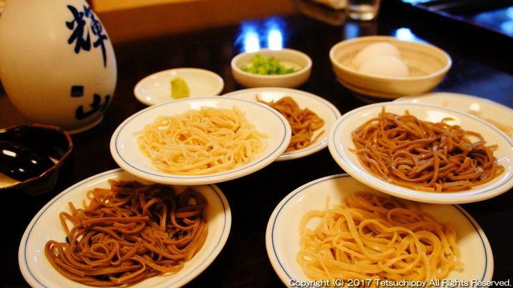日本 兵庫 豊岡市出石町の名物「皿そば」を食べ歩き!   てつちぴ旅!