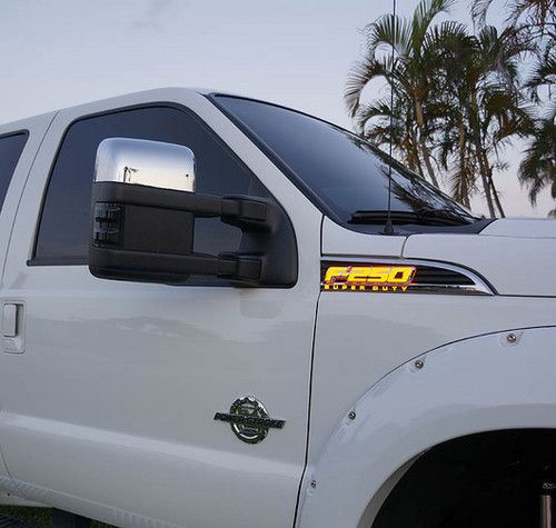 Ford F-250 Superduty Illuminated Side Fender Emblems. Apex Lighting provides high quality marine, truck, and general use lights and accessories.