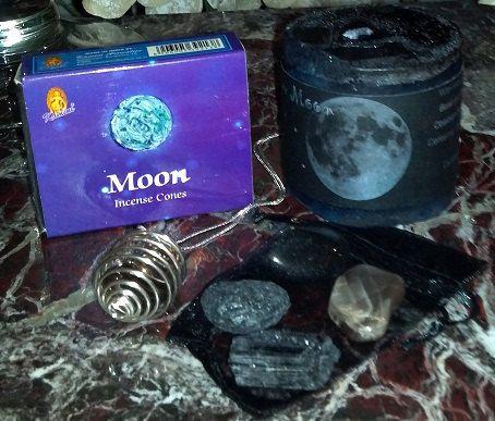 New Moon Ritual Kit New Moon Ritual New Moon by Peacefulmindcom, $19.95