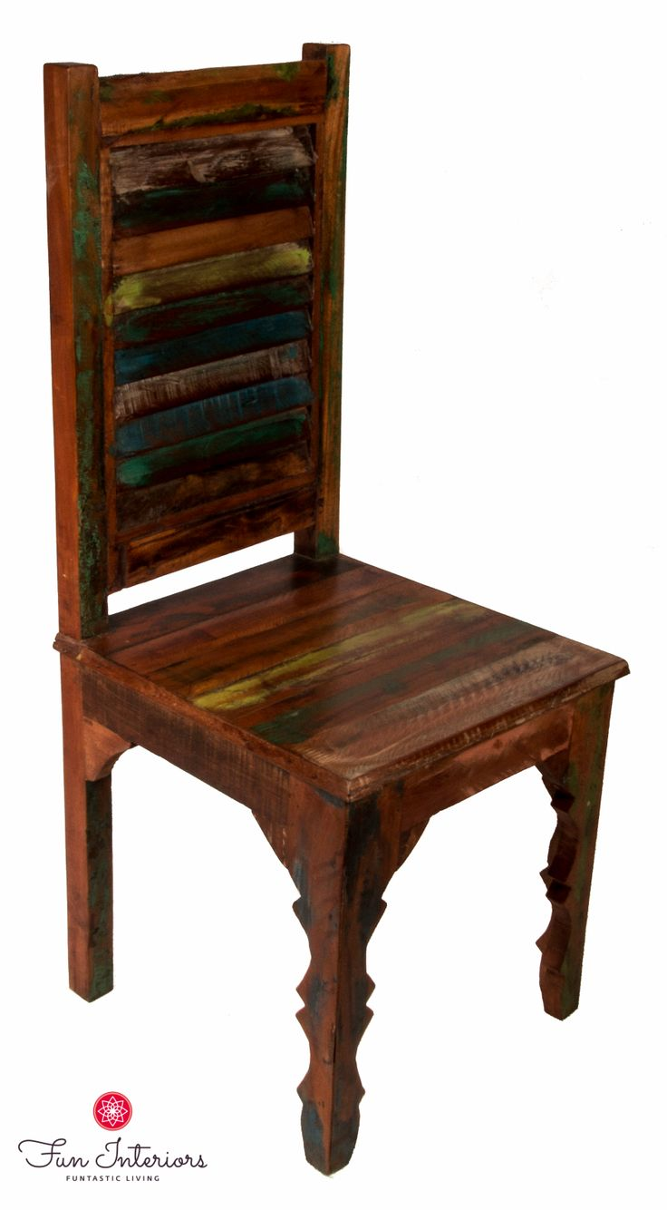 Recycled wood chair