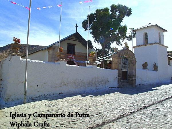Iglesia y Campanario de Putre-  Norte de CHILE.