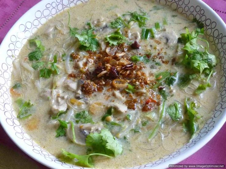 Chicken soup with curry powder