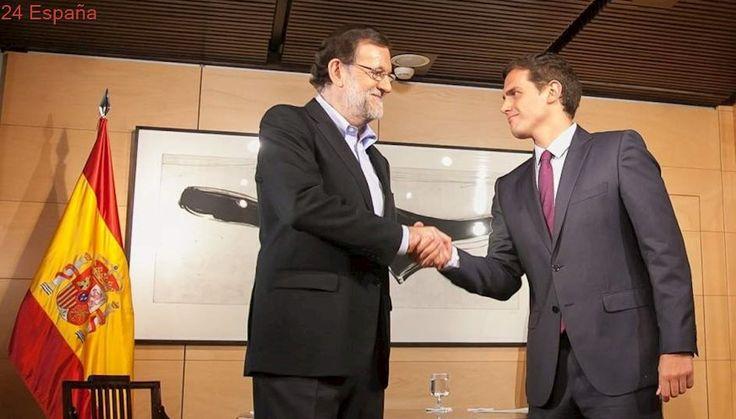 Albert Rivera acude a La Moncloa para tratar el desafío catalán con Mariano Rajoy