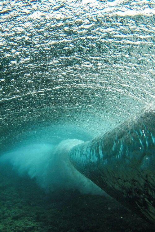 Inside of wave