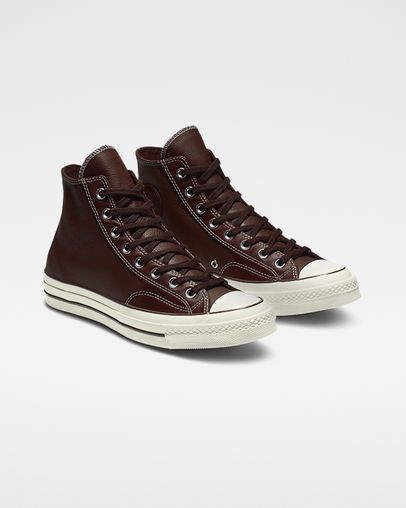 c875ddb06414 Chuck 70 Luxe Leather High Top Barkroot Brown Black Egret