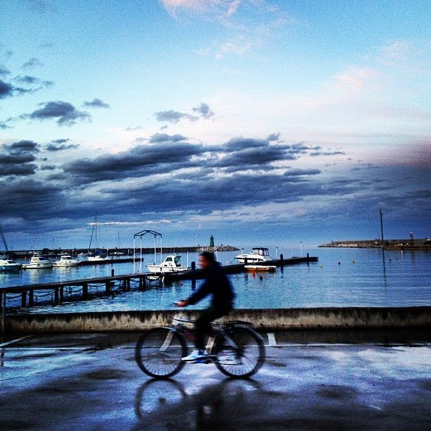 Civitanova Marche... mare in bicicletta al tramonto...