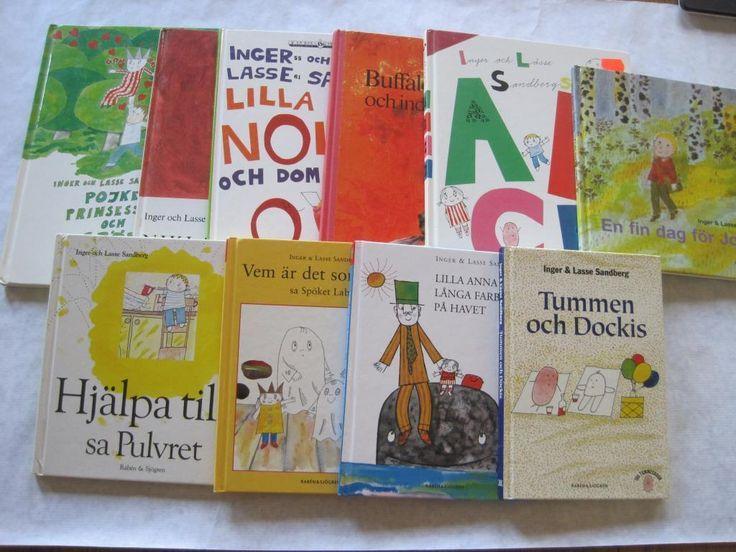Bokpaket med 10st böcker av Inger & Lasse Sandberg