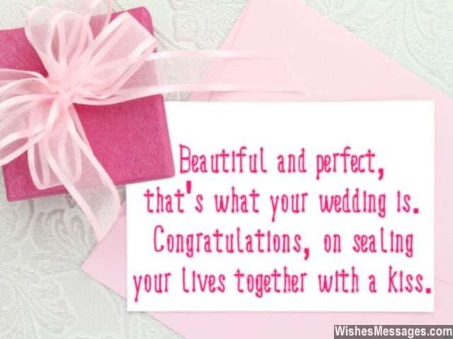 Congratulations Wedding Wishes Sweet Greeting Card Message