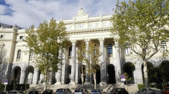La Bolsa de Madrid.