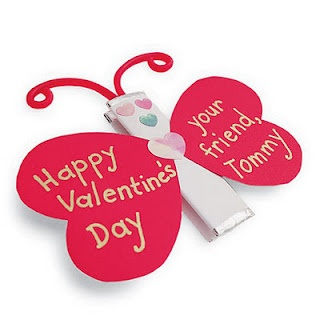 butterfly valentine - Valentine Card Ideas For Kids