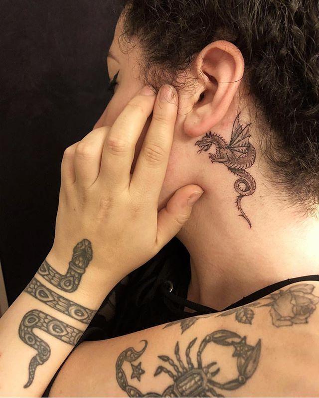 Tattoos By Tamarasantibanez Including The Fresh Little Serpent