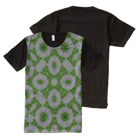 Abstract Pattern green unique pattern All-Over-Print T-Shirt - click/tap to personalize and buy