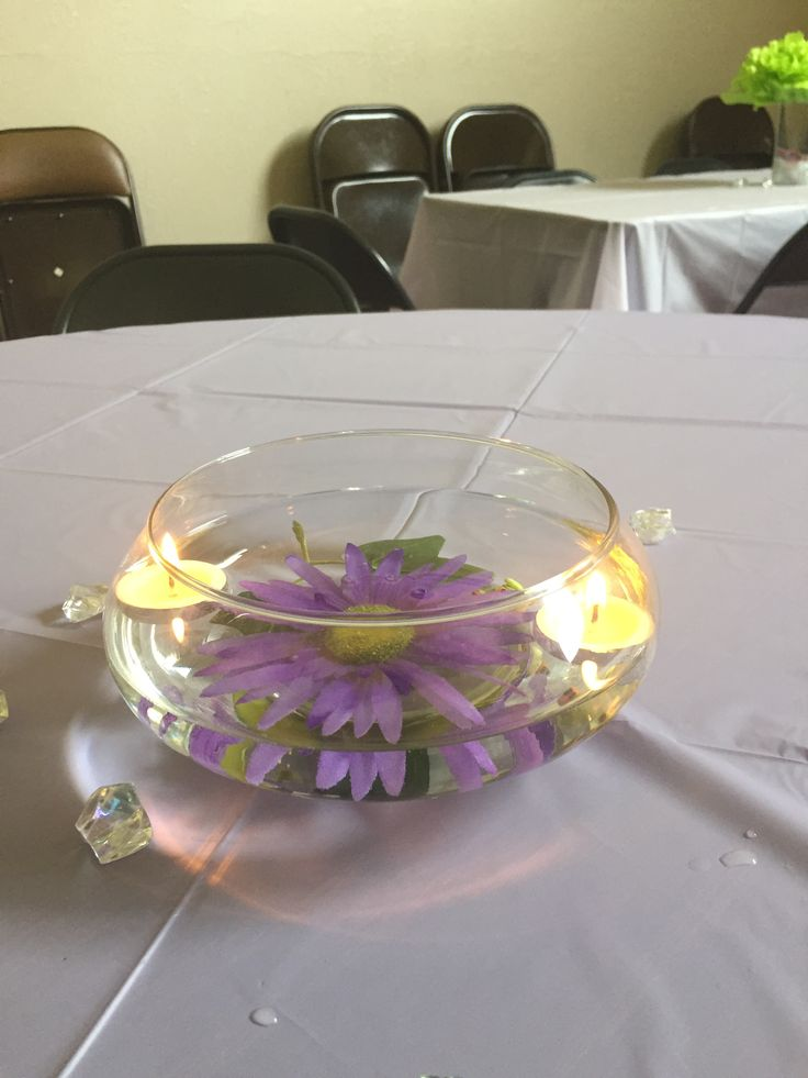 Lily pad center piece for princess and the frog theme shower