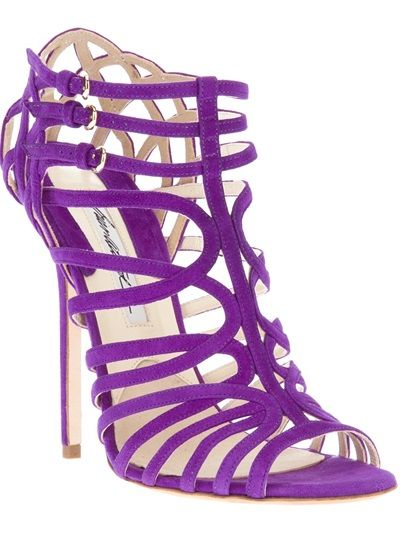 MY #4 MOST FAVORITE STYLE IN ANY COLOR! Brian Atwood Purple 'Clarissa' Strappy Sandal