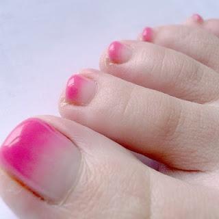 summer gradation footnail