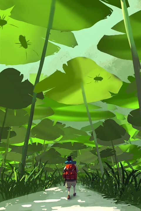 """Backpacking on an Alien Planet"" by Goro Fujita* • Blog/Website 