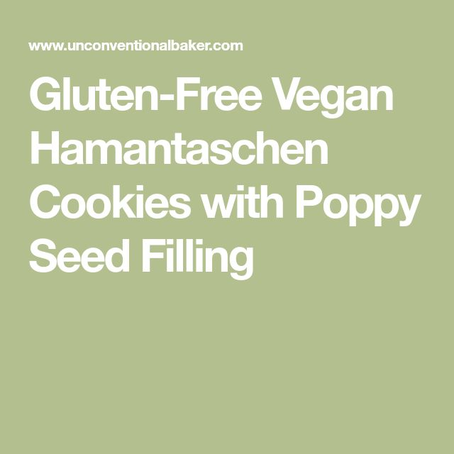 Gluten-Free Vegan Hamantaschen Cookies with Poppy Seed Filling