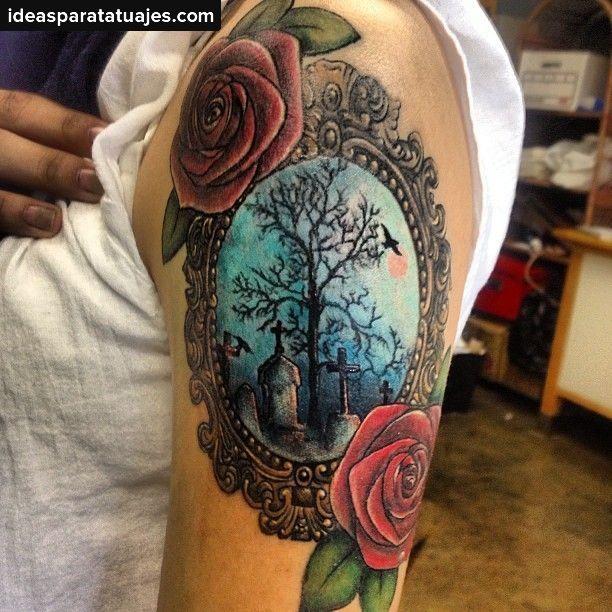 Aquí te dejamos algunas imágenes de tatuajes de cementerios para que ...
